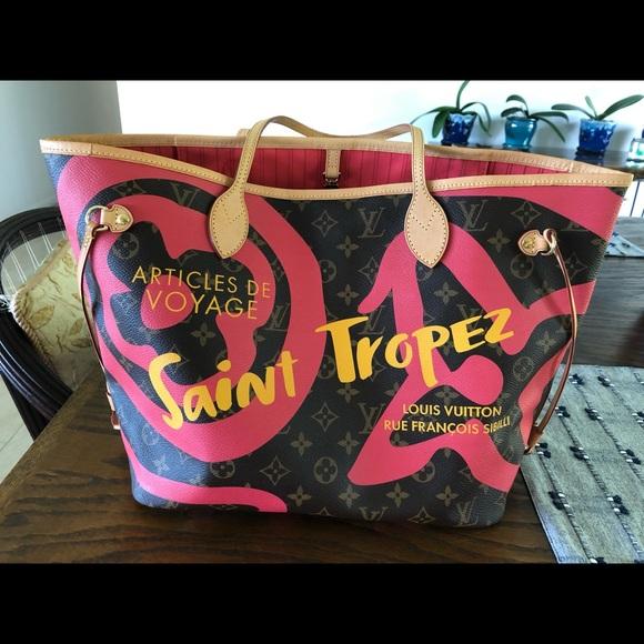 7b3fc18f5afe Louis Vuitton Handbags - LOUIS VUITTON TAHITIENNE CITIES NEVERFULL MM